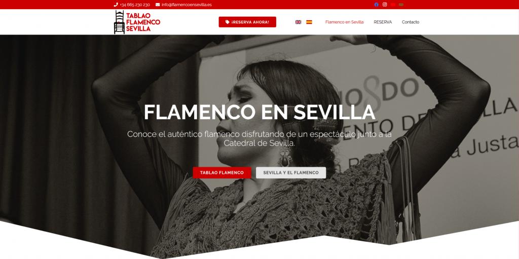 Flamenco en Sevilla | Diseño web