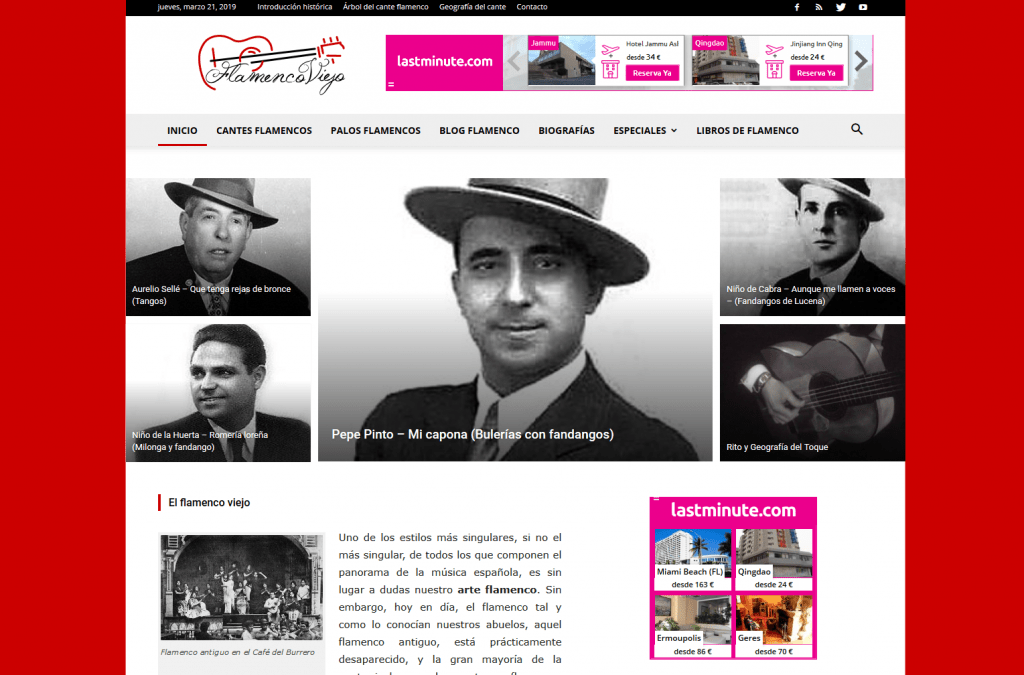 Flamenco Viejo | Diseño web