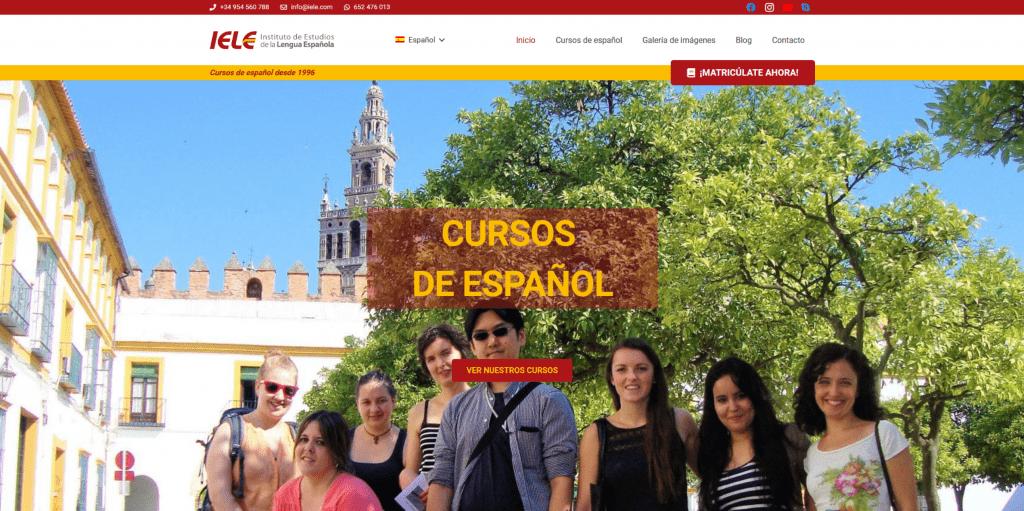 IELE - Instituto de Estudios de la Lengua Española | Diseño web en Sevilla