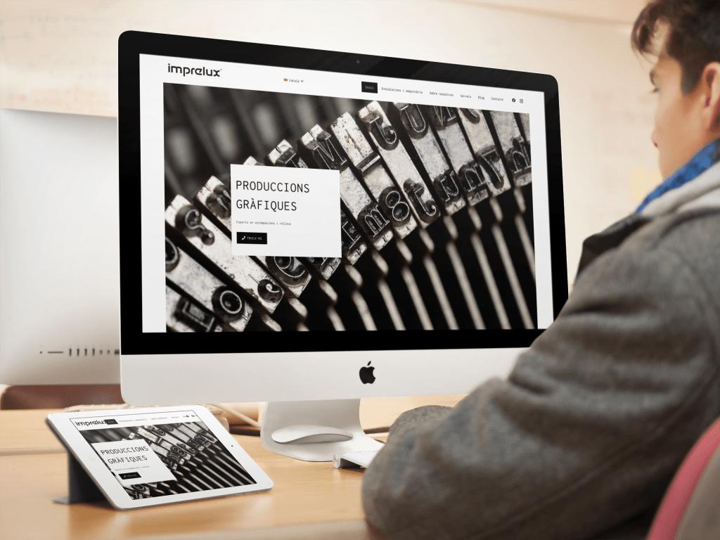 Imprelux - Producciones gráficas | Diseño web