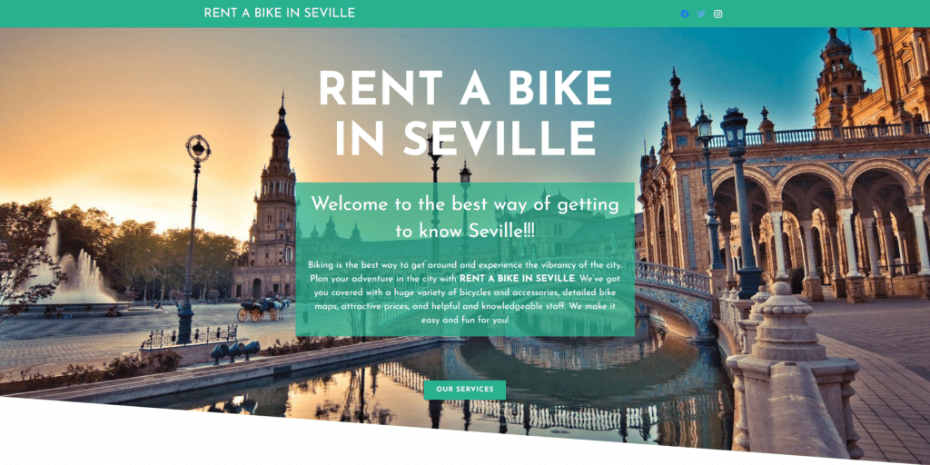 Rent a bike in Seville | Diseño web - SEO