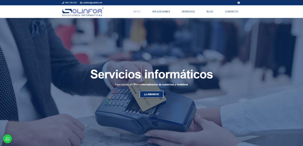 Solinfor - Soluciones informáticas | Diseño web en Sevilla