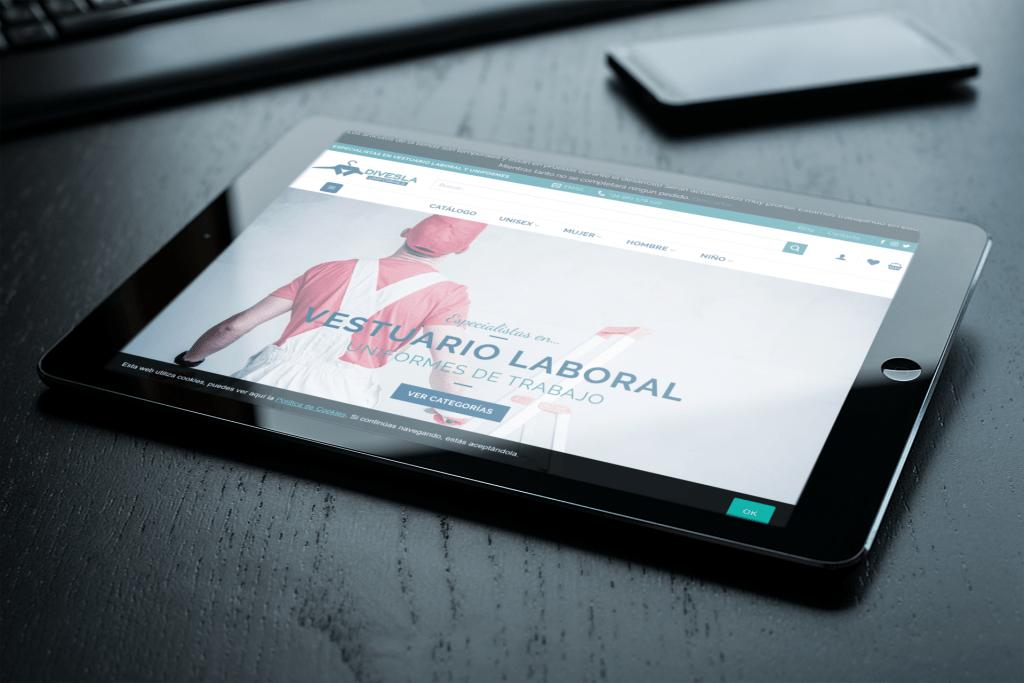 Uniformes Divesla | Diseño de tienda online